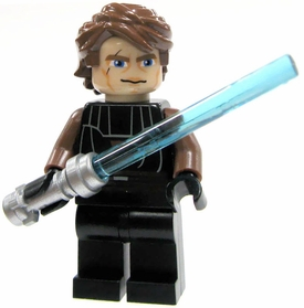 LEGO Star Wars Clone Wars LOOSE Mini Figure Anakin Skywalker with Silver Lightsaber