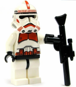 LEGO Star Wars LOOSE Mini Figure EPIII Clone Shock Trooper with Blaster Rifle [Red Markings]