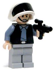 LEGO Star Wars LOOSE Mini Figure Rebel Trooper with Blaster [Frown]