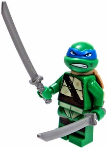 LEGO Teenage Mutant Ninja Turtles LOOSE Mini Figure Leonardo with Swords
