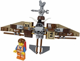 LEGO The Movie LOOSE Minifigure Emmet with Getaway Glider