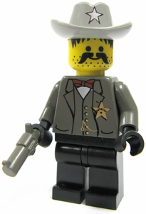 LEGO Western LOOSE Mini Figure Sheriff with Pistol