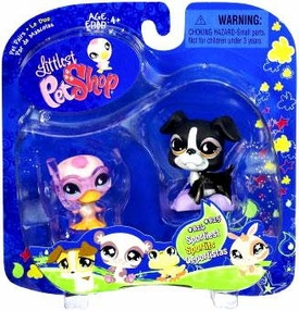 Littlest Pet Shop 2009 Assortment 'B' Series 1 Collectible Figure Duck & Boxer
