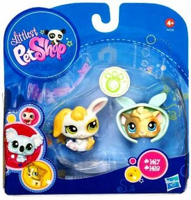 Littlest Pet Shop 2010 Assortment 'B' Series 2 Collectible Figure Bunny & Guinea Pig
