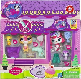 Littlest Pet Shop 4-Pack Stylin Sweeties [Bee, Prairie Dog, Poodle & Bassett Hound]