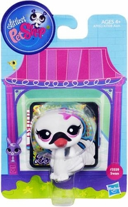 Littlest Pet Shop Bobble in Style Figure #3559 Swan New!