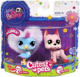 Littlest Pet Shop Cutest Pets Figures Blue Heron & Great Dane