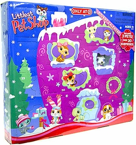 Littlest Pet Shop Exclusive 2007 Advent Calendar with 3 Pets [Polar Puppy, Mouse & Kitty]