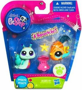 Littlest Pet Shop Exclusive Figure 2-Pack Fish & Snail
