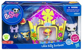 Littlest Pet Shop Playset Little Bitty Birdhouse [Birdie & Cat]