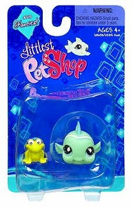 Littlest Pet Shop Fanciest Single Figure Green Fish