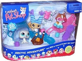 Littlest Pet Shop Figures Playset Arctic Adventure with Seal & Husky
