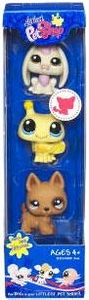 Littlest Pet Shop Happiest 3-Pack Rabbit, Bumblebee & Puppy