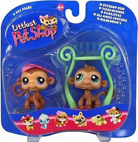 Littlest Pet Shop Pet Pairs Figures Boy & Girl Twin Monkeys