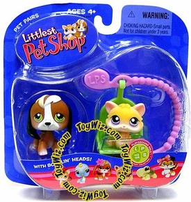 Littlest Pet Shop Pet Pairs Figures Kitten & Beagle