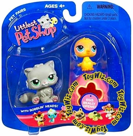 Littlest Pet Shop Pet Pairs Figures Kitty with Chick & Egg