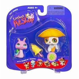 Littlest Pet Shop Pet Pairs Figures Puppy & Snail