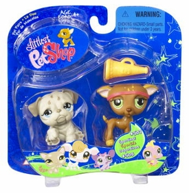 Littlest Pet Shop Pet Pairs Grayhound & Gray Bulldog