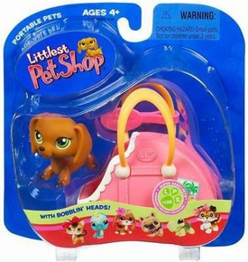 Littlest Pet Shop Pets On The Go Figure Dachshund in Suitcase