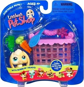 Littlest Pet Shop Pets On the Go Figure Floppy Bunny with Hutch