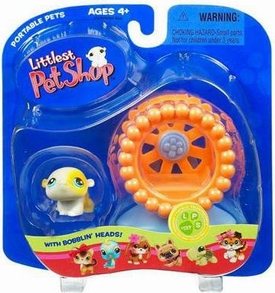 Littlest Pet Shop Pets On The Go Figure Hamster with Wheel Slightly Damaged Package!