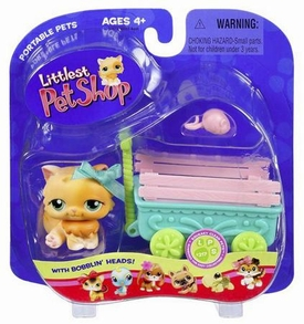 Littlest Pet Shop Pets On the Go Orange Cat with Wagon