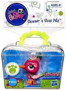 Littlest Pet Shop Shimmer 'N Shine Figure #2340 Woodpecker