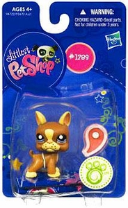 Littlest Pet Shop Single Figure Boston Terrier [With Steak]