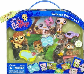 Littlest Pet Shop Ultimate Postcard Pets 3-Pack Ostrich, Lion & Monkey