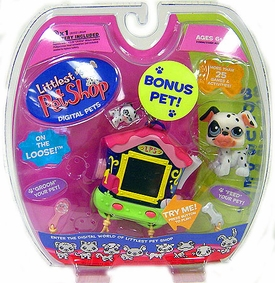 Littlest Pet Shop Virtual Electronic Digital Pet Toy (Similar to Tamagotchi) Dalmation with BONUS Dalmation Figure