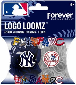 Logo Loomz Bands MLB New York Yankees Pack [200 Bands, 2 Charms & 6 'S' Clips]