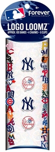 Logo Loomz Bands MLB New York Yankees Set [100 Bands, 4 Charms & 6 'S' Clips]