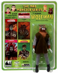 Mad Monster 8 Inch Action Figure The Human Wolfman New!