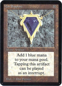 Magic the Gathering Alpha Limited Single Card Rare Mox Sapphire Near/Mint