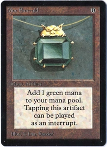Magic the Gathering Beta Limited Single Card Rare Mox Emerald Near/Mint Condition