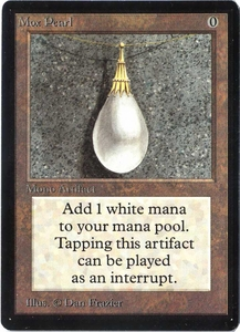 Magic the Gathering Beta Limited Single Card Rare Mox Pearl Near/Mint