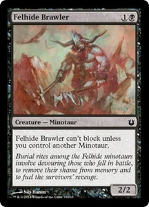 Magic: The Gathering Born of the Gods Single Card Black Common #70 Felhide Brawler