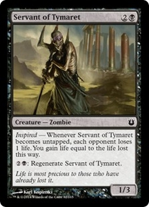 Magic: The Gathering Born of the Gods Single Card Black Common #82 Servant of Tymaret