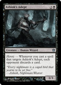 Magic: The Gathering Born of the Gods Single Card Black Uncommon #59 Ashiok's Adept