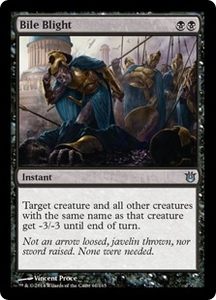 Magic: The Gathering Born of the Gods Single Card Black Uncommon #61 Bile Blight