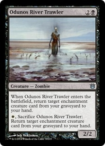 Magic: The Gathering Born of the Gods Single Card Black Uncommon #79 Odunos River Trawler
