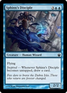 Magic: The Gathering Born of the Gods Single Card Blue Common #51 Sphinx's Disciple