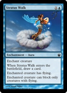 Magic: The Gathering Born of the Gods Single Card Blue Common #52 Stratus Walk