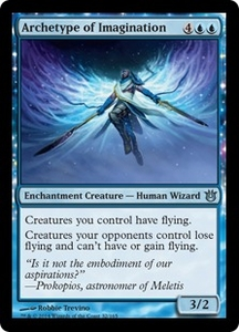Magic: The Gathering Born of the Gods Single Card Blue Uncommon #32 Archetype of Imagination