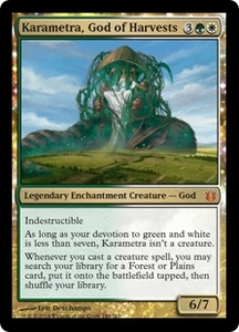 Magic: The Gathering Born of the Gods Single Card Gold Mythic Rare #148 Karametra, God of Harvests