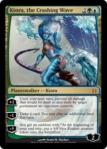 Magic: The Gathering Born of the Gods Single Card Gold Mythic Rare #149 Kiora, the Crashing Wave