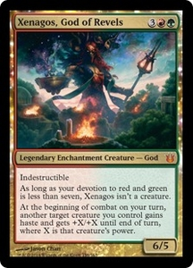 Magic: The Gathering Born of the Gods Single Card Gold Mythic Rare #156 Xenagos, God of Revels