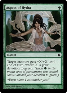 Magic: The Gathering Born of the Gods Single Card Green Common #117 Aspect of Hydra