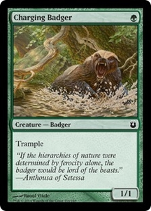 Magic: The Gathering Born of the Gods Single Card Green Common #118 Charging Badger