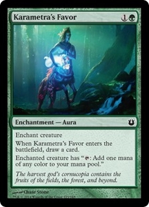 Magic: The Gathering Born of the Gods Single Card Green Common #125 Karametra's Favor